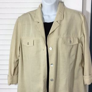 Lightweight linen colored jacket